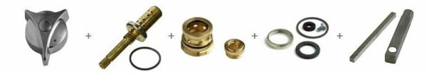 REBUILD KIT FOR SYMMONS TA10 TA9 TA4 T35 A-B T31 STEM/SEATS/WASHRS/WRENCH/HANDLE
